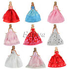15 Pcs Gift Sets = 5 Handmade Dresses Clothes &10 Shoes for Barbie Doll FREESHIP