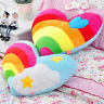 Heart-Shaped Plush Rainbow Cloud Back Cushion Lovely Stuffed Pillow Doll Toy Hot