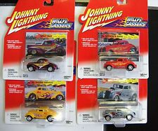 FOUR JOHNNY LIGHTNING Willys Gassers:Wild &Cody,Willy Fast,Bryson &Sons, Bel E S