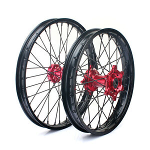 "CRF 450 R 02-12 CRF 250 X 04-16 21"" 19"" MX Front Rear Wheel Rims Hubs for Honda"