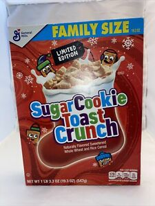 Limited Edition Family Size Sugar Cookie Toast Crunch. Exp Sept 2021