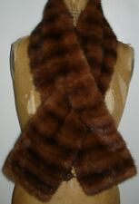 Dior Mahogany Mink Fur Scarf Wrap Size One Size Fit All FREE SHIPPING Excell Con