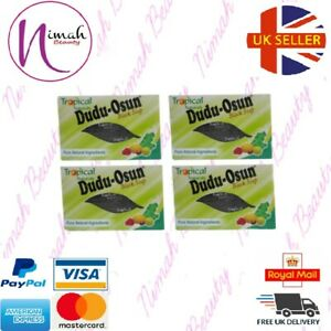 4 x Dudu Osun African Black Soap 150g for eczema, Acne, fungus (4 PACK)