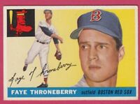 1955 Topps # 163 Faye Throneberry - Red Sox (EX)