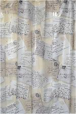 "71"" Chlorine Free Vinyl French Post Card Design Bathroom Bath Shower Curtain"