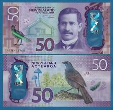 New Zealand 50 Dollars P New 2015 / 2016 UNC Low Shipping! Combine FREE! Polymer