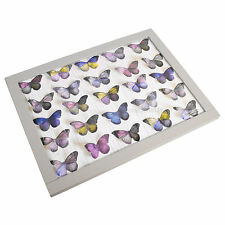 'BUTTERFLY / BUTTERFLIES'  TV LAP TRAY WITH SOFT BEANBAG BASE IN FAUX LEATHER
