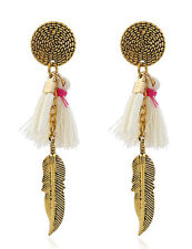 Charm Bohemia Feather Beads Long  Earrings for Women''s Jewelry New