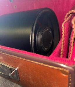 500mm F/1:8 MIRRORLESS TELEPHOTO LENS OM MOUNT! VINTAGE W/ ORIGINAL LEATHER CASE