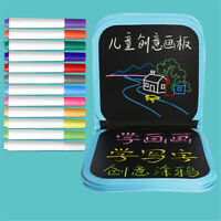 Erasable Painting Book 14 Pages Drawing Board 12 Colored Pen Set For Kids Gift
