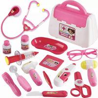 16Pcs Children Doctor Set Mini Medical Box Dr Kit Playset Kid Toy Please Read