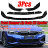 3X Gloss Black Front Bumper Lip Spoiler Splitter For BMW 3 Series G20  !*