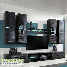 Mobile soggiorno moderno madia vetrina porta tv led parete attrezzata Gihome®