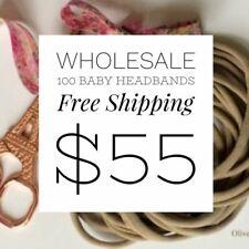 100 Pieces Thin Nylon Elastic Headbands Nude | 5-6 mm | 26cm | FREE AU SHIPPING