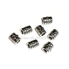 12 Perles intercalaire spacer Cylindre 6.5x5x5.5mm Apprêts création bijoux _A137