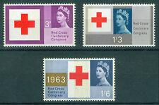 GB MNH STAMP SET 1963 Red Cross Centenary (phosphor) SG 642p-644p UMM