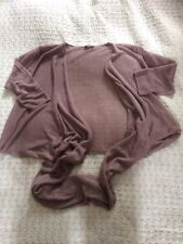 Luxurious WRAP Pure Linen Draped Cardigan -size 10. Taupe Colour Tried On Once