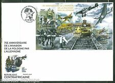 CENTRAL AFRICA 2014 GERMAN INVASION OF POLAND START OF WORLD WAR II SHEET FDC