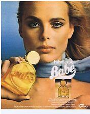 PUBLICITE ADVERTISING 104 1977 BABE fabuleuse eau de toilette