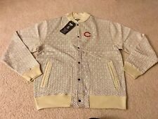 CROOKS & CASTLES CHAIN LINK STADIUM JACKET KHAKI MEDIUM M supreme