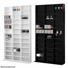 1116 CD Storage Shelf Unit DVD Shelves Rack Bookcase Cabinet Display Tower Stand