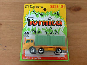 Tomica Fuso Container Truck on Yellow Card Made For GJ Coles Melbourne Australia