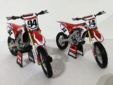 New Ray Team HRC Honda Roczen & Seely Toy Model Motocross Bike set - 1/12 Scale