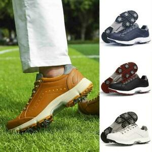 Professional Golf Shoes For Men 2021 New Spikes Golf Hiking Sneakers Big K7N6