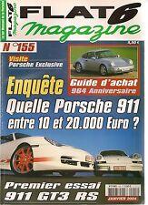 FLAT 6 155 STROSEK PORSCHE 964 ANNIVERSAIRE 996 GT3 RS 391CH 911 CARRERA RS 2.7
