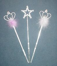 Pack of 10 Girls Princess Wands for Party Bags/ Parties Assorted Designs (HW181