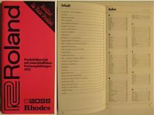 ROLAND BOSS RHODES KATALOG VON 1993 - PRODUKTÜBERSICHT MIT PREISEN