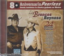 Los Broncos De Reynosa CD NEW 24 Nortenas PEERLESS 80 Aniversario SEALED
