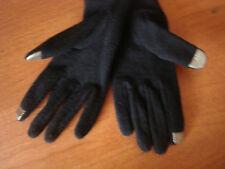 X Large Womens Black RUNWAY Echo Touch Screen Gloves I-Phone Wool Blend