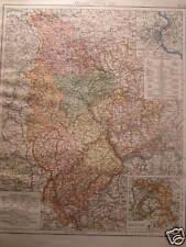 Old Landkarte map Provinz Rheinland Köln hohenzolern