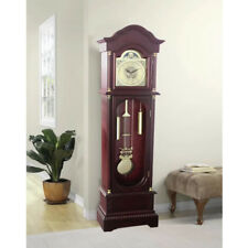 Grandfather Vintage Floor Clock Antique Classic Style Stand Entryway Living Room