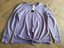 Ideology Ladies L/S knot Front Active Wear Top, Montana Grape, XL
