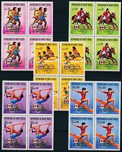 [PG20492] Upper Volta 1977 : Olympics - 4x Good Set Very Fine MNH Air Stamps