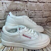Reebok Classic Mens White Leather Lace Up Sneakers Size 9.5