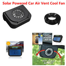 Black Solar Powered Car Air Vent Cool Fan Auto Fan for Car Front Rear Window