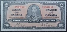 BANK OF CANADA 1937 - $2 BANK NOTE - Prefix H/R 8961601 -Coyne & Towers