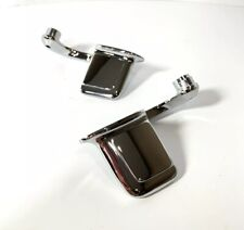 Pair Chrome Interior Door Handles Right & Left Side For 1959-67 Full Size GM Car