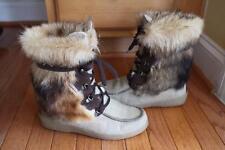 Pajar women's beige/brown fur lace up winter boots size 40 (BOTA600