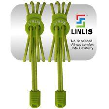 Elastische Schnürsenkel ohne zu schnüren LINLIS Stretch FIT Komfort Grün-1