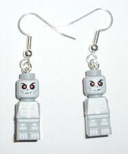 LEGO Grey Skeleton Microfig Earrings *DIY*Skull*evil eyes*