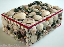 ONE VINTAGE JEWELS BOX MADE WHIT SHELLS