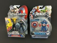 Marvel Avengers Action Figure LOT Shield Blast Grapple Cannon Captain America X2