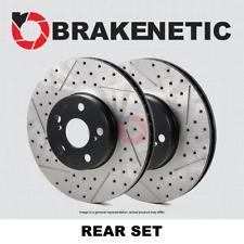 [REAR SET] PREMIUM Drilled Slotted Brake Disc Rotors SRT8 w/BREMBO BNP58009.DS