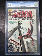MARVEL COMICS DAREDEVIL CGC 8.0 1st Stilt man Double cover rare 1965