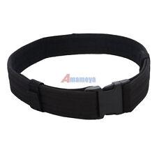 "NEW 2.3"" Police Security Tactical Combat Gear Utility Nylon Duty Belt SWAT Black"