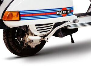 6x Racing Streifen 42x10 cm Aufkleber Sticker Vespa Folie Motorrad Martini 1